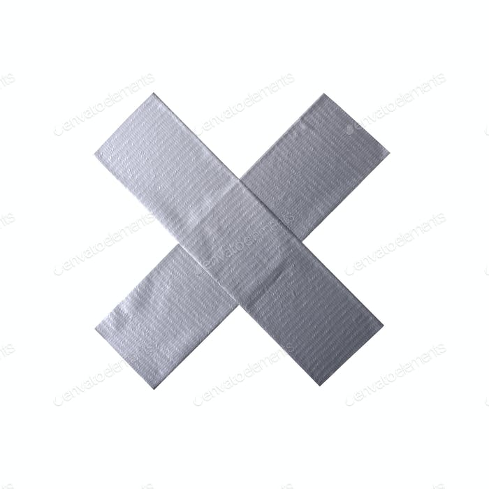 Scotch tape cross