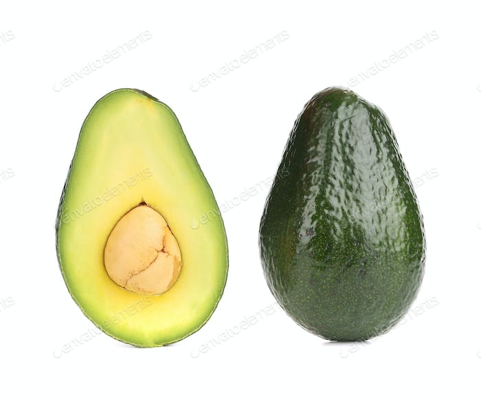 Avocado halves.