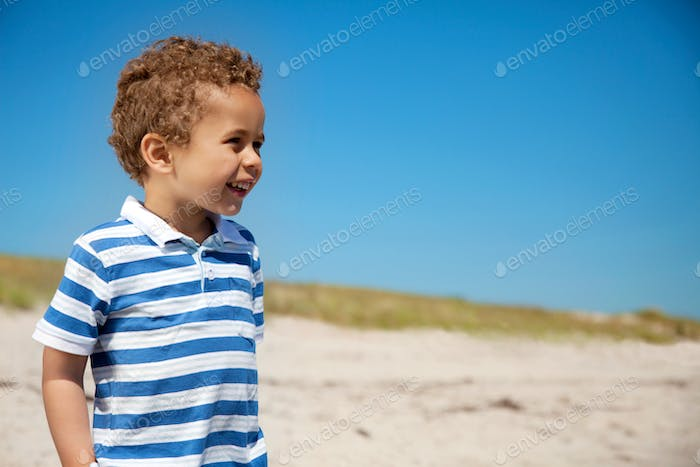 Adorable Kid Outdoors Looking Happy