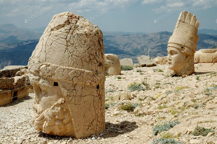 Stone head at Mount Nemrut, southeast of Turkey