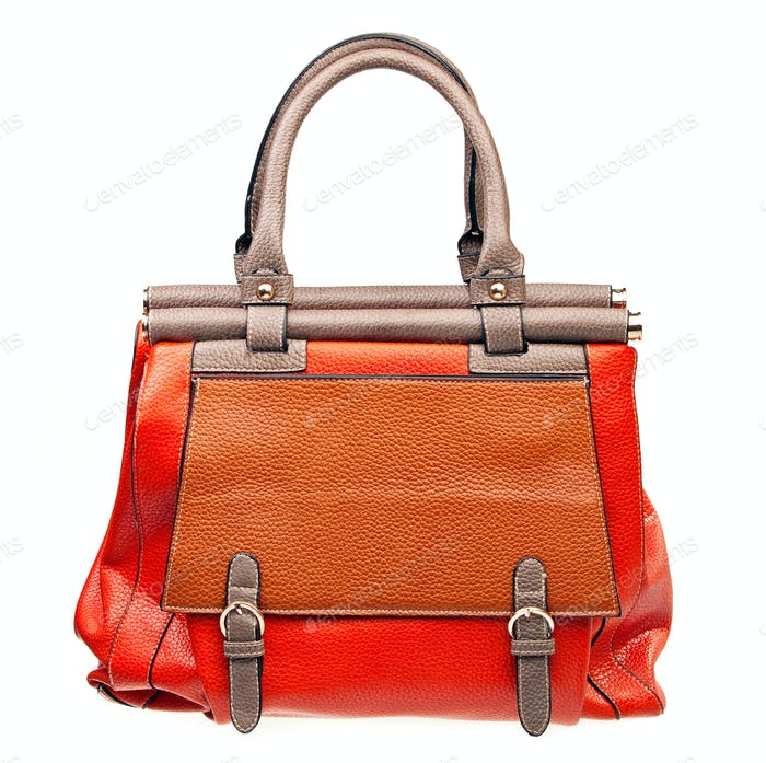 Fashion women bag isolated over white