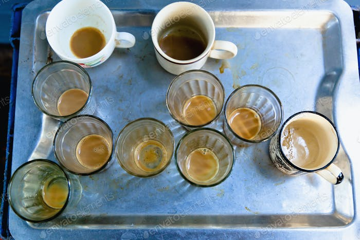 Empty Coffee Glasses