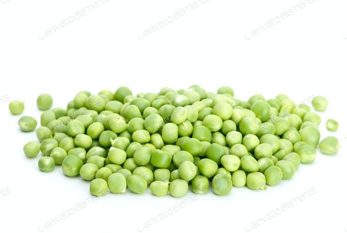 Pile of green peas