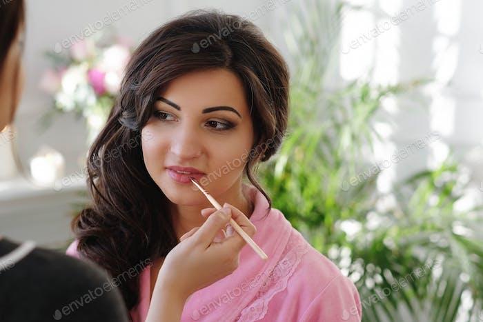 Proceso de maquillaje