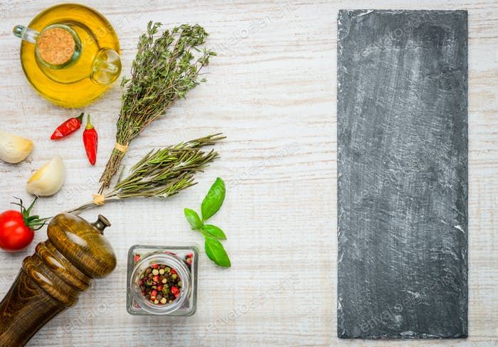 Cooking Ingredients and Copy Space