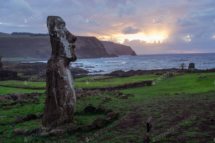 Dawn on Isla de Pascua. Rapa Nui. Easter Island