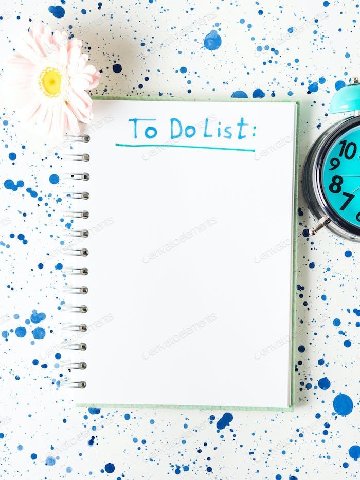 Schreiben Aufgabenliste im Morgenkonzept