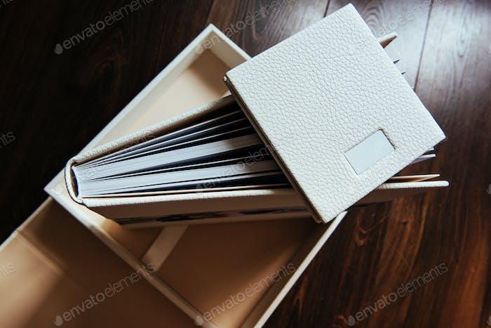 natural leather classic wedding photobook and album