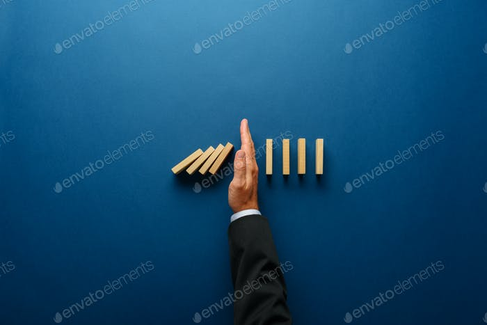 Business crisis management conceptual image