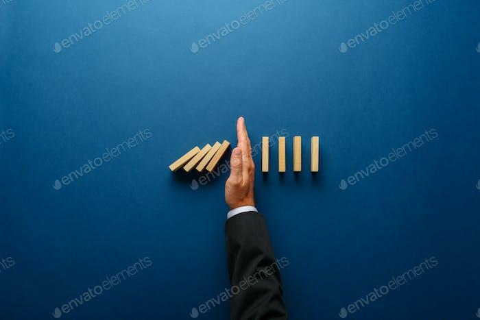 Konzeptbild des Geschäftskrisenmanagements