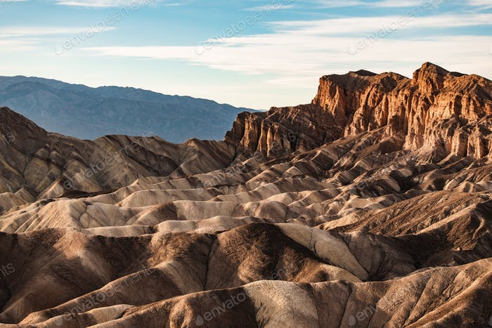 Rock formations at Zabriskie Point, Death Valley National Park, Nevada, USA
