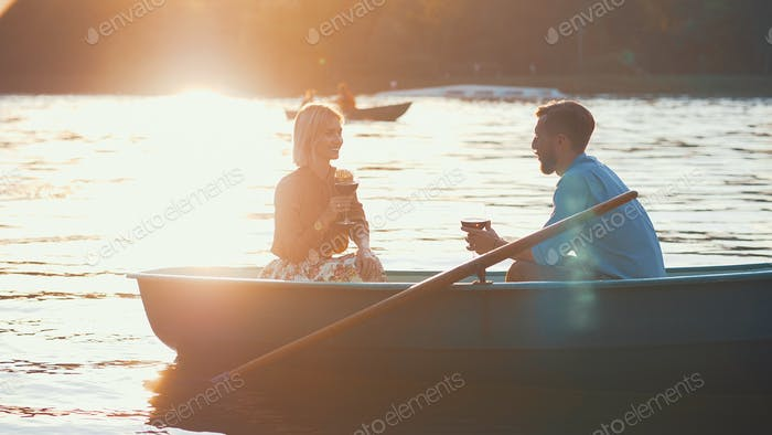 Young couple in the sunlight