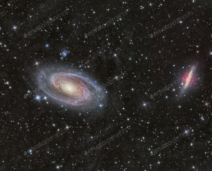 Galaxies M81 and M82