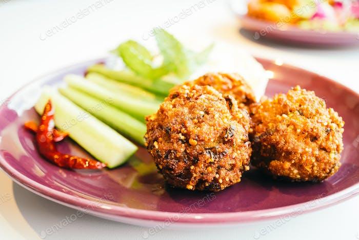 Spicy minced pork ball