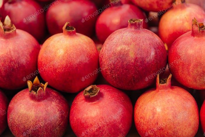 Haufen eines Granatapfels