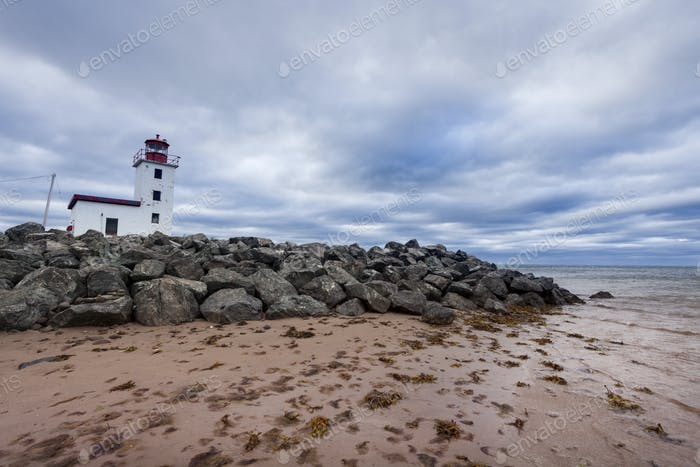 Caribou Lighthouse in Nova Scotia