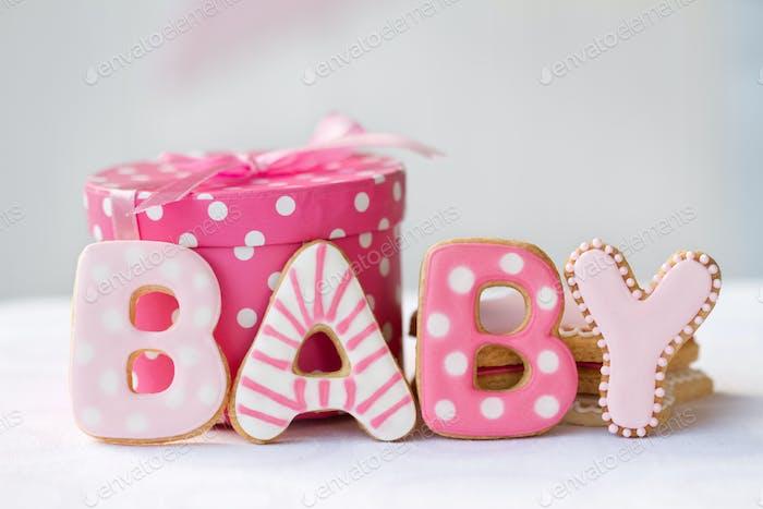Baby-Dusche-Cookies