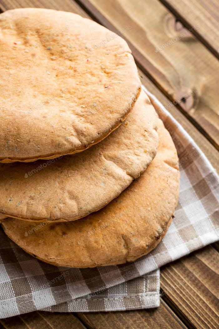 Tasty pita bread.
