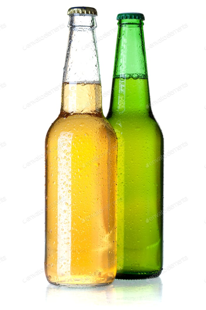 Two beer bottles
