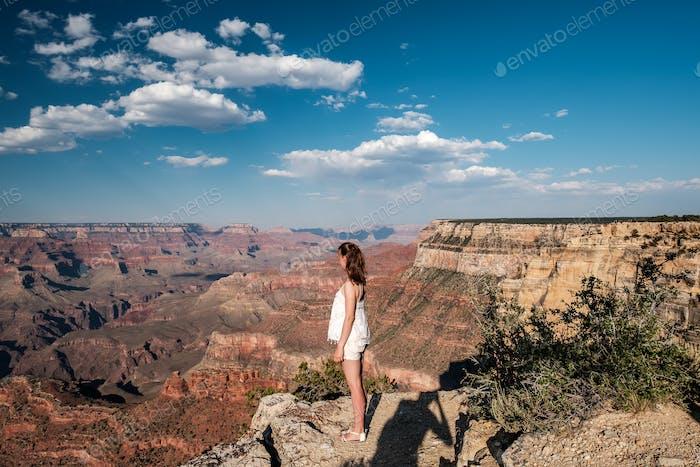 Tourist at Grand Canyon