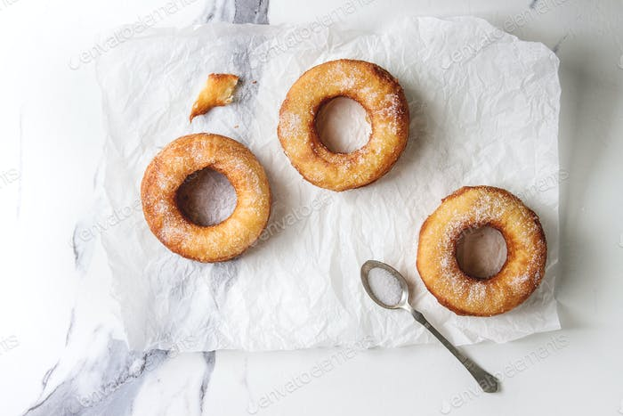 Puff pastry donuts cronuts
