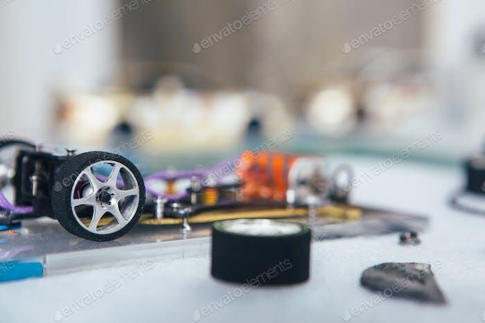 Teile von Slot Car