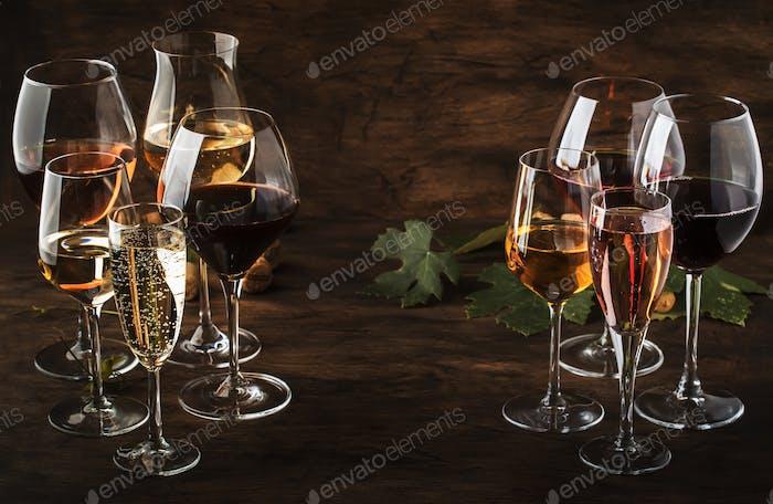 Weinprobe, Still- und Schaumweine