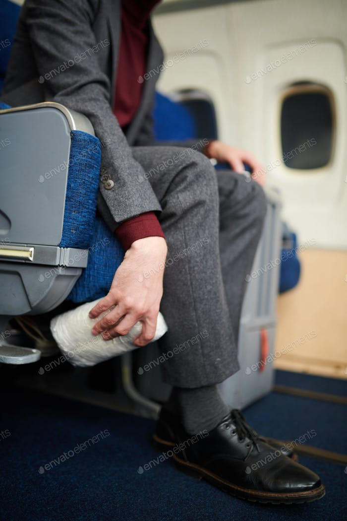 Dropping Drogen auf dem Flugzeug