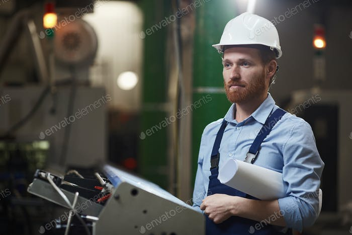 Foreman with blueprint