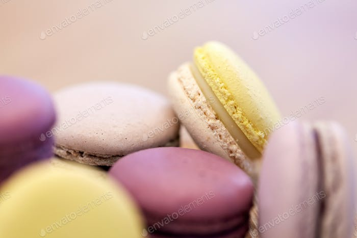 close up of macarons