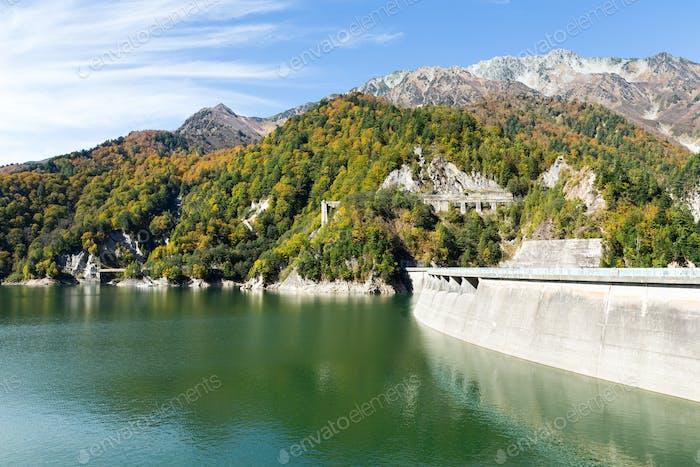 Reservoir of Kurobe dam