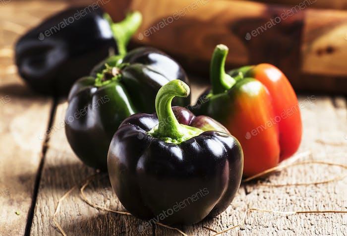 Schwarze Paprika