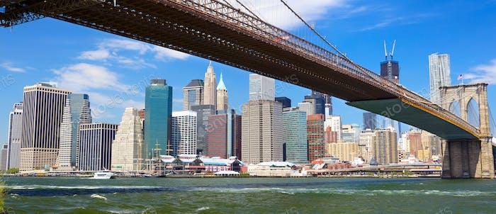 Panorama der Brooklyn Bridge