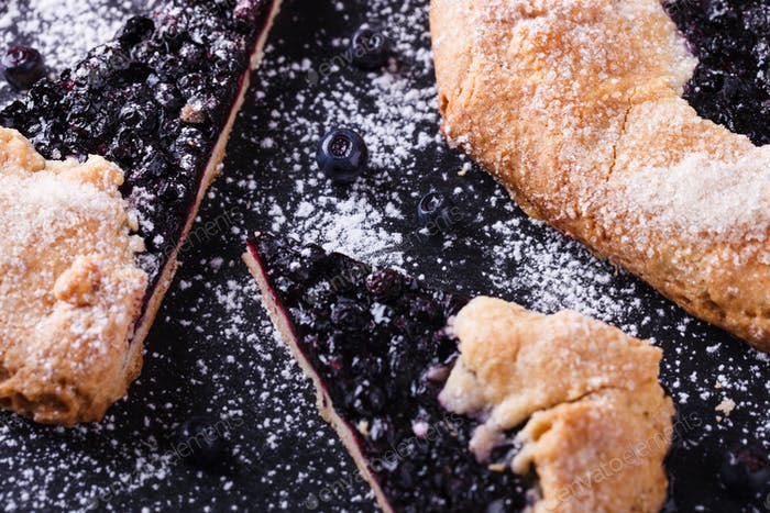 Galette with blueberries  Sweet pastries