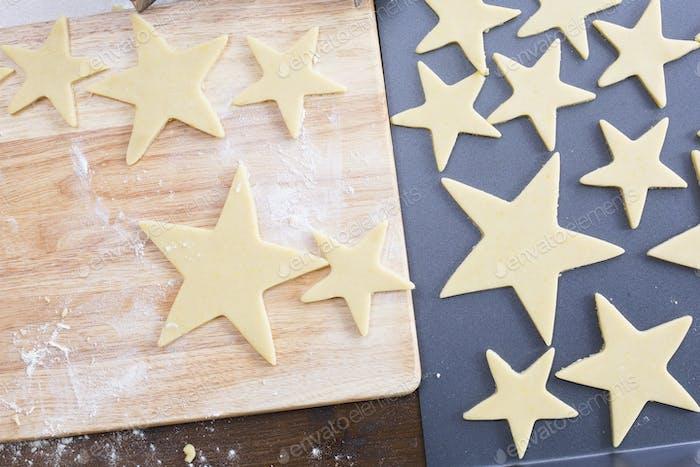 Baking Star Cookies