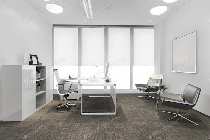 3d рендеринг бизнес-зал на высотном офисном здании