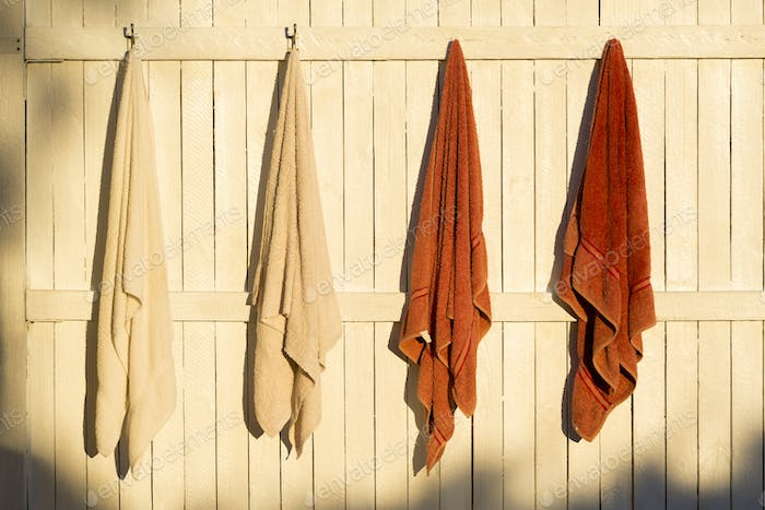 Towels Hanging Outdoors