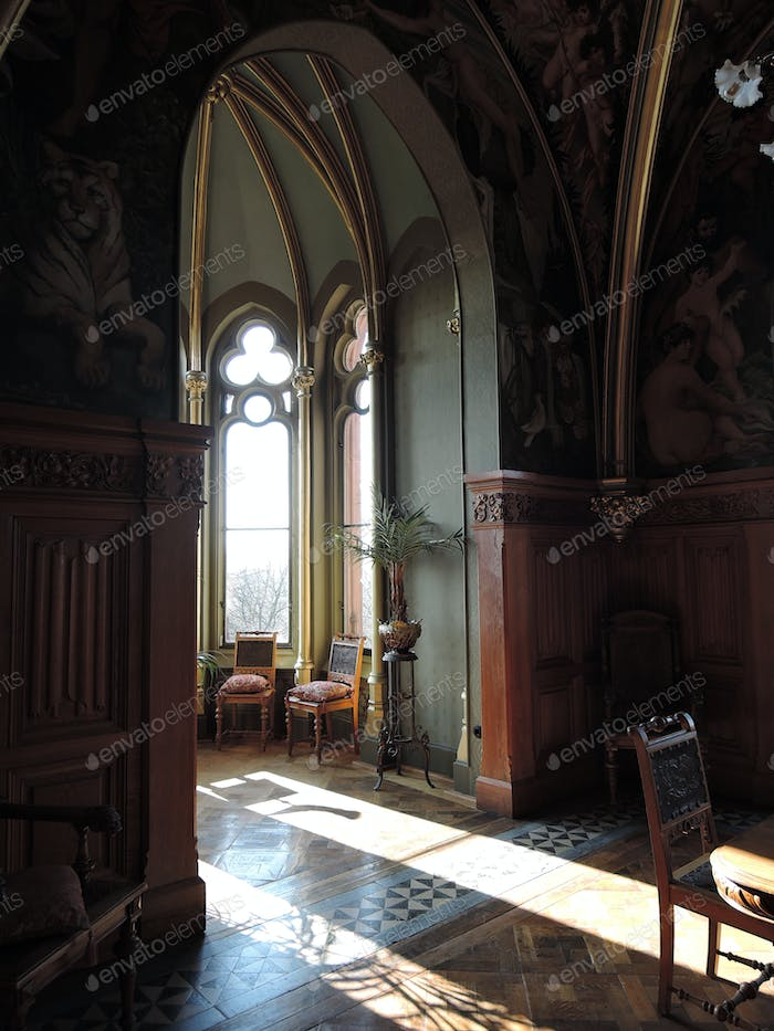 Interior view of the Drachenburg Castle in Cologne, Germany