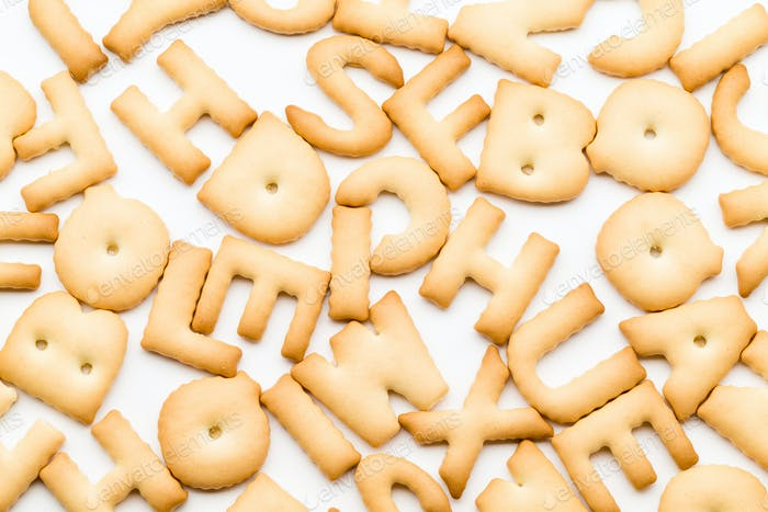 Stack of letter cookie