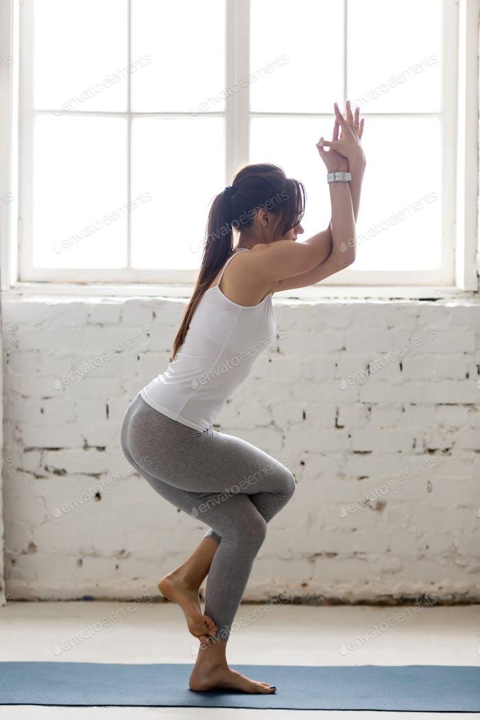 Yoga Indoors: Eagle Pose