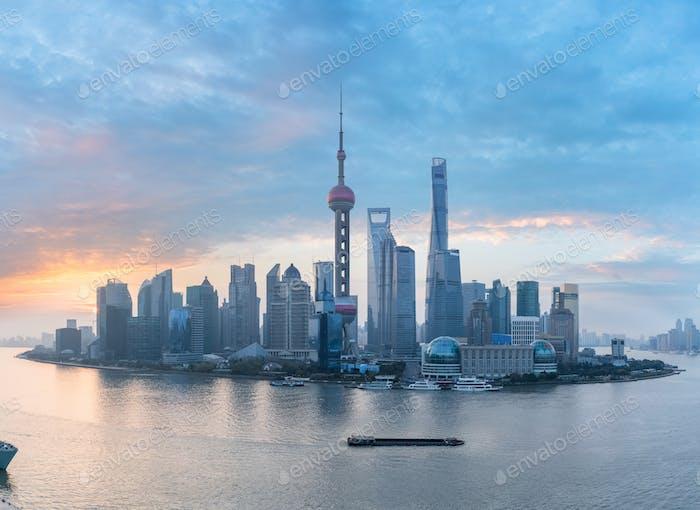 shanghai skyline panorama