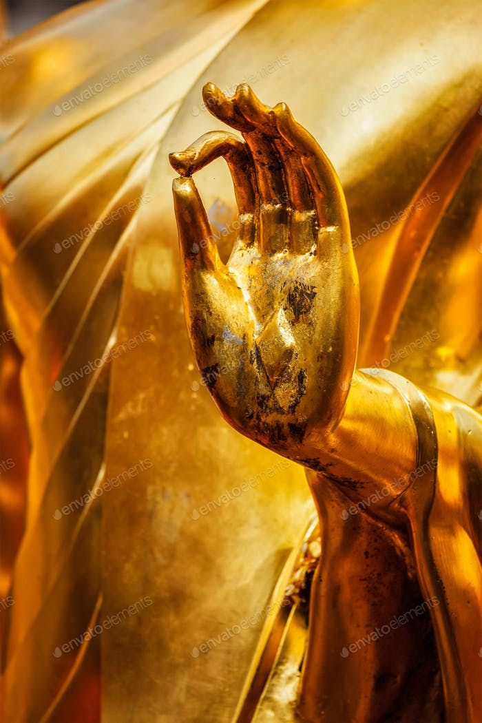 Buddha statue hand, Chiang Mai, Thailand