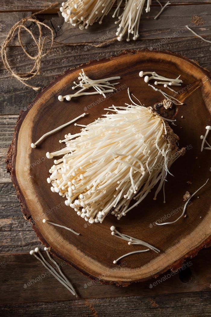 Raw Organic Enoki Mushrooms