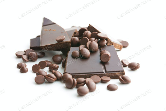 Tasty chocolate morsels.