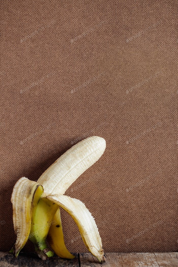 banana peel on wooden floor