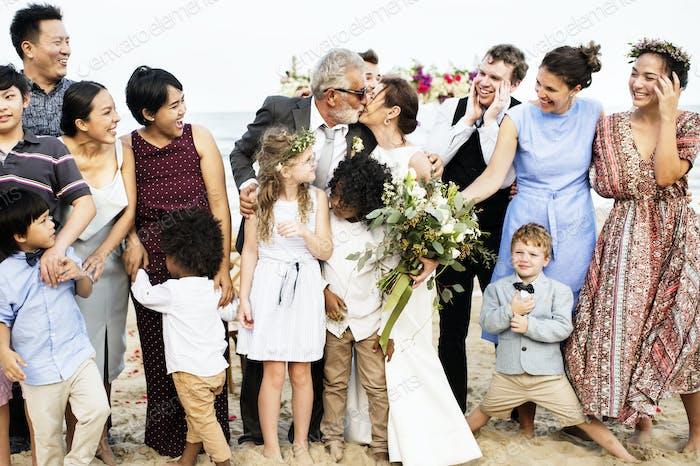 Senior couple's wedding