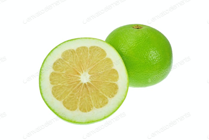 Grüne Grapefruit