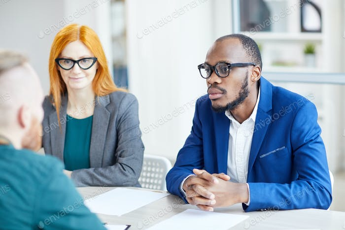 African Businessman in Meeting