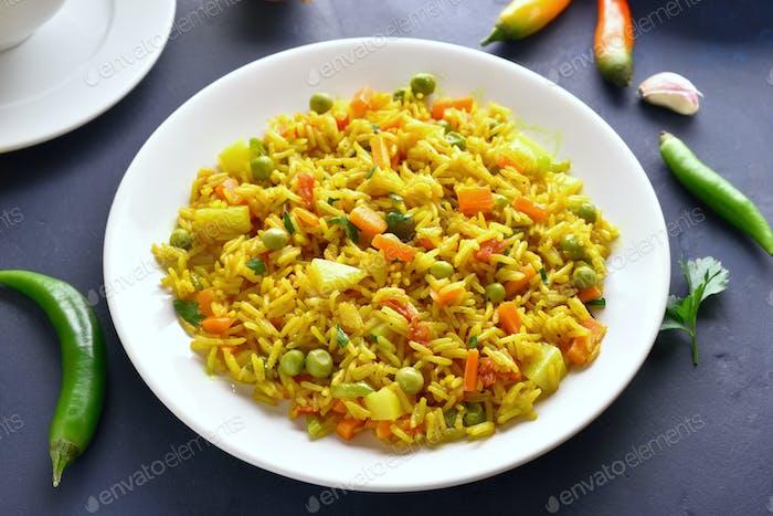 Vegetarischer Pilaw