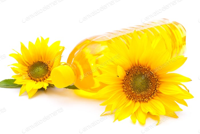 Sunflower oil and sunflowers